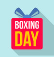 discount boxing day logo set flat style vector image vector image