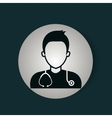 doctor avatar isolated icon vector image vector image
