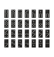 dominoes or domino tiles black mockups vector image vector image