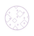 dotted shape circle with memphis geometric vector image