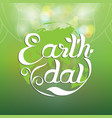 earth day hand writing vector image