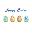 easter egg three pattern paint color vector image vector image