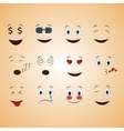emotions face smile funny cute different set vector image vector image