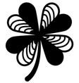 four leaf clover black print art st patricks day vector image