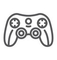 game controller line icon game and play joystick vector image