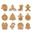 gingerbread christmas cookies vector image