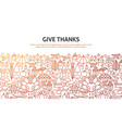give thanks concept vector image vector image