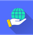 globe - icon for graphic and web design vector image vector image