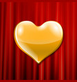 golden heart celebration vector image vector image