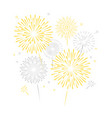 golden silver fireworks vector image