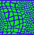 green blue tropical animal snake crocodile pattern vector image