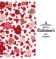 happy valentine day background good design vector image