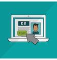 human resources document design vector image