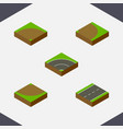 isometric way set of sand turn rotation vector image vector image