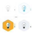 Light bulb icon 4 design vector image vector image