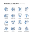 Line Business People Icons vector image vector image