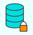 lock database line icon minimal 96x96 pictogram vector image vector image
