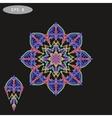 Mandala Coloring 1 violet vector image