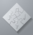 Music Notes on White Puzzle Background vector image vector image