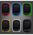 Phone color set vector image vector image