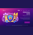 privacy engineering concept landing page vector image vector image