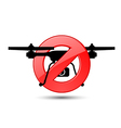 Quadcopter flights prohibited sign vector image vector image