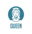 queen logo template vector image vector image