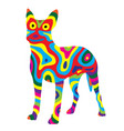 rainbow dog 6 vector image vector image