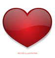 red heart glossy 3d on isolated background vector image
