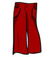 red woman pants on white background vector image vector image