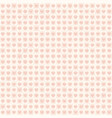 rose heart pattern with dots and squares seamless vector image vector image
