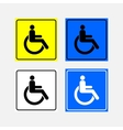 set icon movement of persons with disabilities vector image vector image