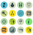 set of 16 authority icons includes special vector image