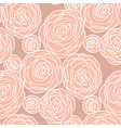 simple pale color rose flowers seamless pattern vector image vector image