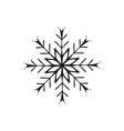 snowflake icon christmas and winter theme on vector image vector image