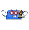 super hero memory card character cartoon vector image