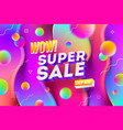 super sale promotion design vector image vector image