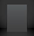 vertical black poster flyer mockup vector image
