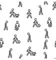 walk people motion seamless pattern vector image vector image