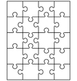 white puzzle 20 vector image