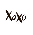 xoxo lettering design for decorations vector image