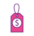 price tag business money commerce icon vector image