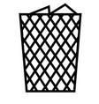bin icon vector image