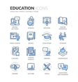 Line Education Icons vector image