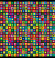 abstract colored square modern seamless pattern vector image vector image