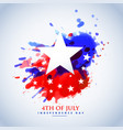 abstract watercolor american flag for 4th july vector image vector image