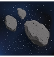 an asteroid and meteorite vector image vector image