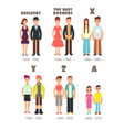 baby boomer x generation people icons vector image vector image