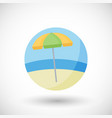 beach umbrella flat icon set vector image vector image