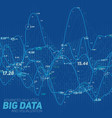 big data line graph blue vector image vector image